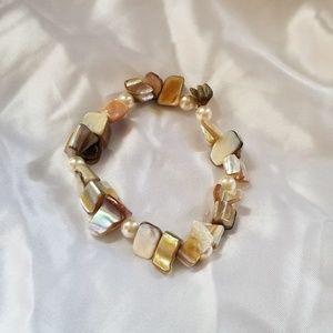 Jewelry - Sea Stone and Pearl  Bracelet